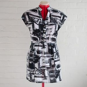 Dresses & Skirts - Black and White Painted Pattern Dress